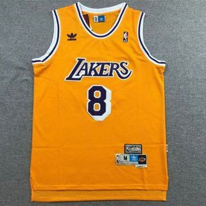 Men Lakers #8 Kobe Bryant Yellow Jersey